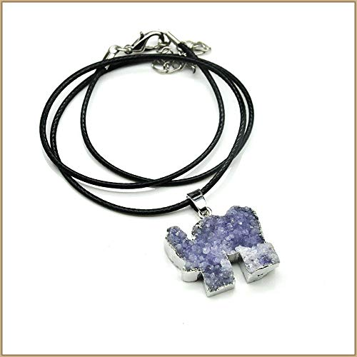 Natural Crystal Necklace | Elephant Pendant | Precious Sapphire/Superstar/European Style/Necklace