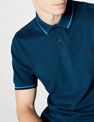Navy Carbon Fred Twin Para F73 Tipped Polo Hombre Perry Shirt moroccan Blue Oxford Multicolor Aqua 7ZqS4