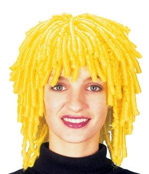 El Carnaval Peluca ricitos mini amarilla