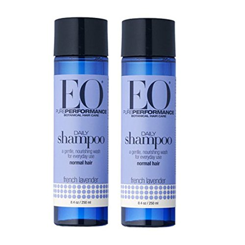 Price comparison product image EO Botanical French Lavender Shampoo With All Natural and Organic Extracts, Papaya, Evening Primrose, Alfafa and Pomegranate, 8.4 fl. oz. (Pack of 2)