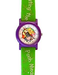 "Collectible Winnie the Pooh Kid's Quartz Watch with Plastic Case and Strap ""Celebrating the Pooh Meaning of Friendship"""