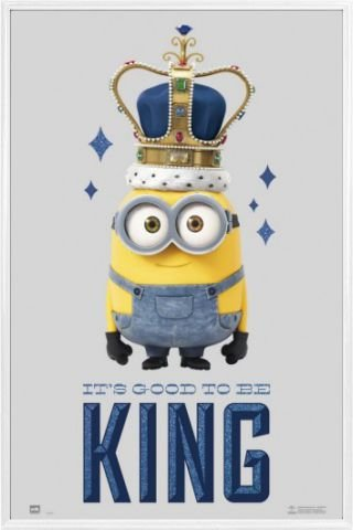 Amazon.com: 1art1 Minions Poster Frame (Plastic) - It\'s Good to Be ...