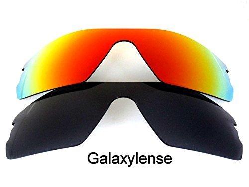 Galaxy Lentes De Repuesto Para Oakley Radar Path negro y rojo color Polarizado - NEGRO Y