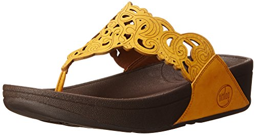 Fitflop Women's Flora Flip Flop, Sunflower, 7 M US by FitFlop