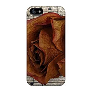 Mialisabblake Fashion Protective Red Rose On A Score Case Cover For Iphone 5/5s