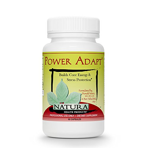 Power Adapt Energy and Stress Relief Supplement by Natura Health Products - Natural Herbal Extracts to Increase Stamina, Build Strength, and Promote Stress Protection - 60 Capsules