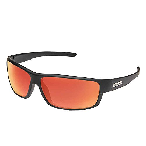 - Suncloud Voucher Polarized Sunglasses, Matte Black, Red Mirror