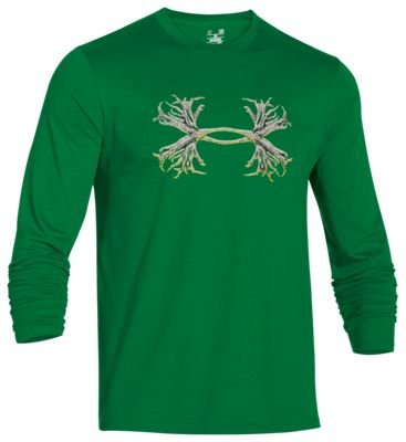Under Armour 6391265920 UA 3D Antler T-Shirt for Men, Flash Green & Elemental - 2 Extra Large (3d Green T-shirt)