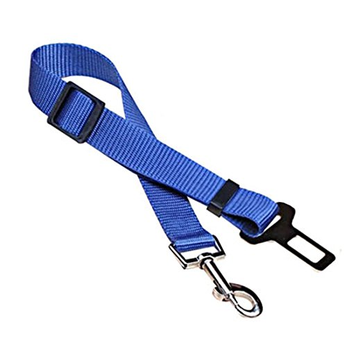 Andux Land Dog harness,Pet Dog Car Automotive Seat Safety Belt CW/GS01 (blue)