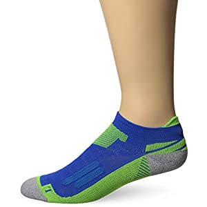 ASICS Nimbus Single Tab Running Socks, Air Force Blue/Safety Yellow, Large