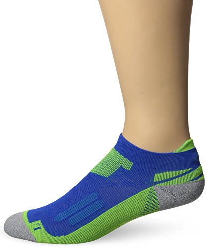ASICS Nimbus Single Tab Running Socks, Air Force Blue/Safety Yellow, Large (Air Force Single)