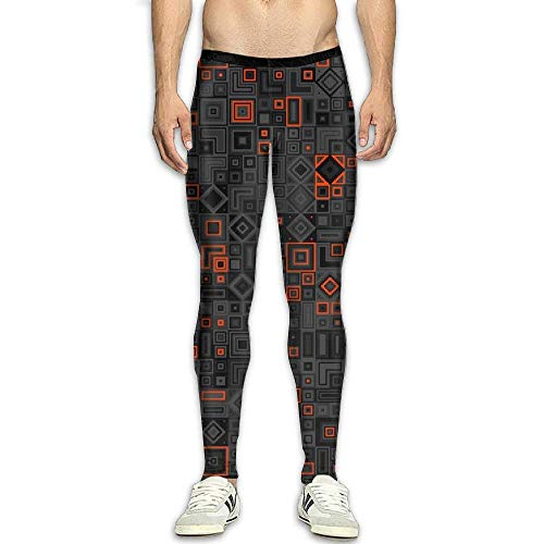 Olivefox Men's Compression Pants Baselayer Cool Dry Sports Tights Leggings ()