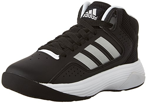Basketball Silver Signature (adidas Kids' Cloudfoam Ilation Mid Kids Casual Footwear (Little Kid/Big Kid),Black/Metallic Silver/White,6 M US Big Kid)