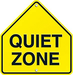 Quiet Zone Two Sided Decorations [CASE OF 120]