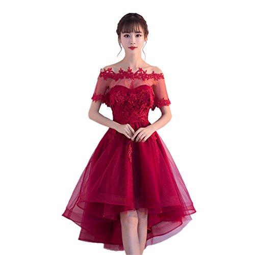 f4c8aa52796ac Yijinxiu パーティードレス レディース ワンピース 膝丈 ドレス 結婚式 花嫁 レースドレス 締め上げ 20