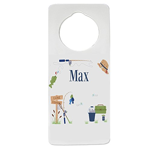 Personalized Gone Fishing Nursery Door Hanger by MyBambino