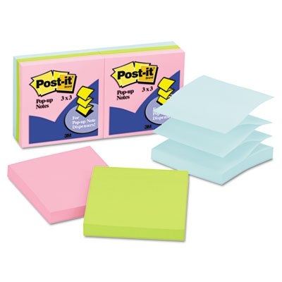 Post-it Pop-up Notes in Pastel Colors - Pop-up, Self-adhesive, Repositionable - 3
