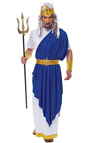 Costume Culture Men's Neptune Costume, White, (Poseidon Crown Costume)