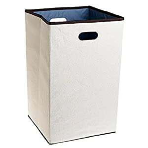NEW Rubbermaid 4D06 Configurations 23-Inch Foldable Laundry Hamper, Natural