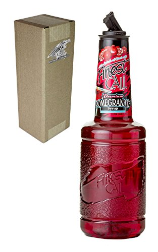 (Finest Call Premium Pomegranate Syrup Drink Mix, 1 Liter Bottle (33.8 Fl Oz), Individually Boxed)