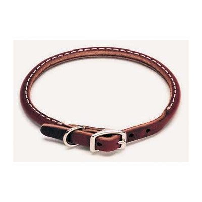 Dog Pet Leather Collar - Coastal Pet Products Circle T Leather Round Dog Collar, 3/4