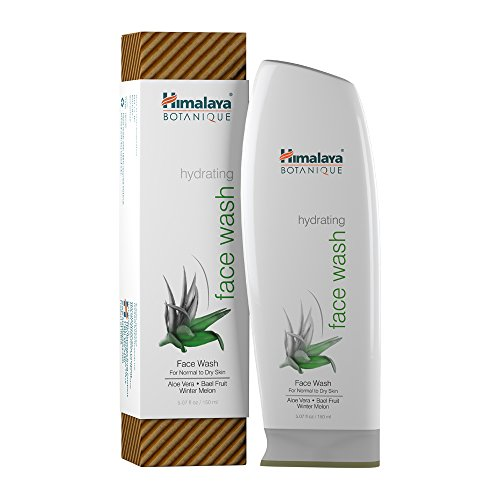 Himalaya Botanique Hydrating Natural Face Wash, 5.07oz/150ml with Aloe Vera and Winter Melon for Normal to Dry Skin Types