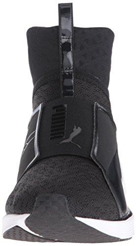 PUMA Women's Fierce Eng Mesh Cross-Trainer Shoe, Black White, 9.5 M US by PUMA (Image #4)