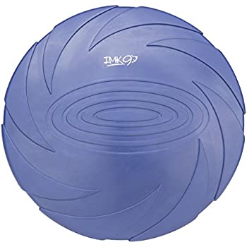 Dog Frisbee Toy - For Small, Medium, or Large Dogs - Soft Natural Rubber Disk For Safety - Best Color Toys For Dogs To See - Aerodynamic Design For Outdoor Flight
