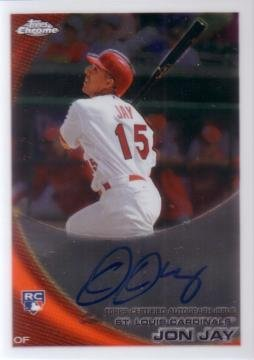 2010 Topps Chrome #178 Jon Jay Certified Autograph Baseball Rookie Card