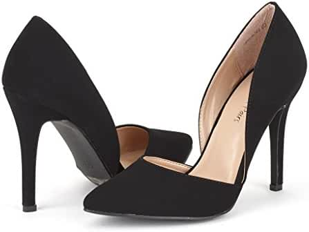 DREAM PAIRS OPPOINTED Women's D'Orsay Style Pointy Pumps Classic Stiletto Heel Shoes New