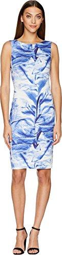 Nicole Miller Women's Faux Metal Midi Dress Blue/Multi ()