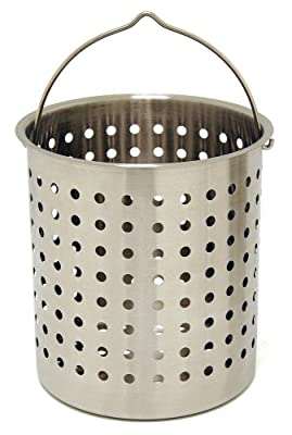 Bayou Classic B136, 36-Qt. Stainless Perforated Basket
