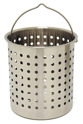 Bayou Classic B136, 36-Qt. Stainless Perforated (Cypress Basket)