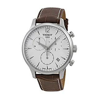 Tissot Men's T063.617.16.037.00 Stainless Steel Tradition Watch with Textured Leather Band (B005DDCOD0) | Amazon price tracker / tracking, Amazon price history charts, Amazon price watches, Amazon price drop alerts