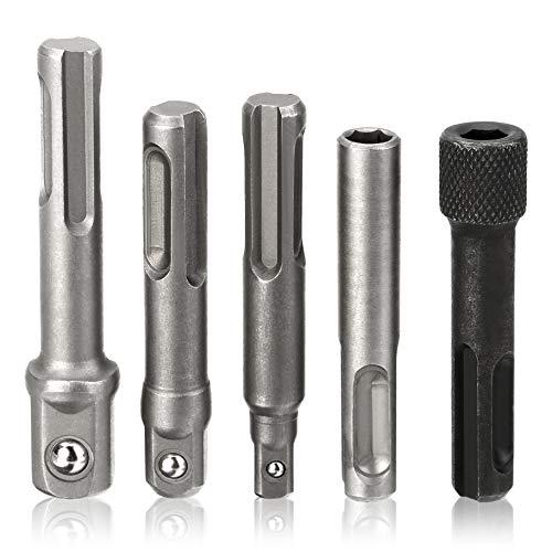 Bit Adapter Socket Drill Extension Set, 2pcs 1/4