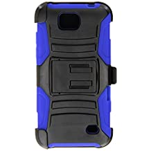Asmyna Cell Phone Case for ZTE 812 (Overture 2) ZTE Maven ZTE Z792 (Fanfare) - Retail Packaging - Black/Blue