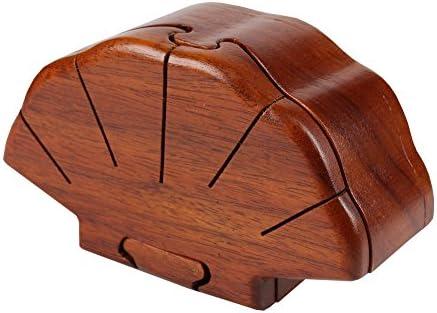 Puzzle de madera caja vieiras del tipo de caja de madera hecha a mano joyero lacado único Joyero: Amazon.es: Juguetes y juegos