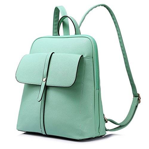 LOVEVOOK Backpack Purse For Girls School Travel Bag Bucket Shape Large Capacity Mint Green-1