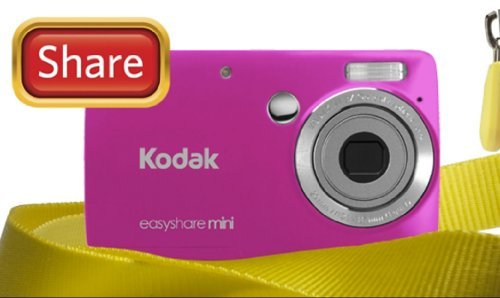 Kodak EasyShare Mini M200 10 MP Digital Camera with 3x Optical Zoom and 2.5-Inch LCD - Pink