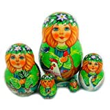 Nesting Dolls For Collectors Hand Painted Beautiful 5 Nesting Doll 3 1/2''x2 1/4''