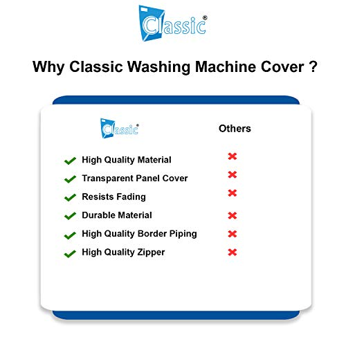 Classic® Top Load Washing Machine Cover Suitable for Samsung Back Panel 6.2 Kg, 6.5 Kg, 7.0 Kg, 7.2 Kg, 7.5 Kg (White & Grey, 55cms X 55cms X 92cms) 41QGZ0FLfGL India 2021