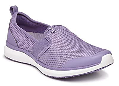 Vionic Women's Simmons Julianna Service Shoes- Ladies Slip Resistant Shoe with Concealed Orthotic Arch Support