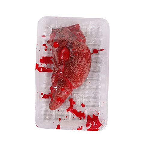 (WUAI Clearance Deals,Halloween Fake Broken Heart Lunch Box Terrorist Horror Scary Prop Haunted Party Decoration)