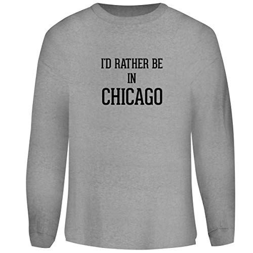 - One Legging it Around I'd Rather Be in Chicago - Men's Funny Soft Adult Crewneck Sweatshirt, Heather, Large