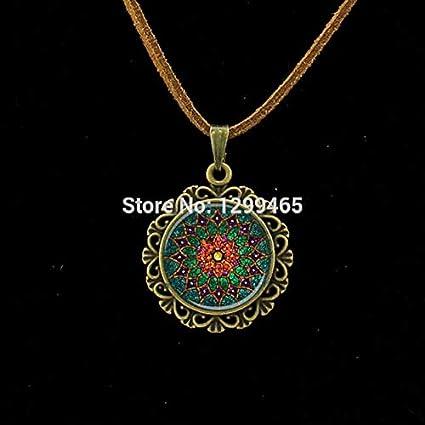 Amazon.com : Choker Necklaces - Retro Om Leather Necklace ...