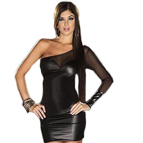 SEX PLAY Uniforme Lingerie In Pelle / Vernice / Locale Notturno Vestiti Di Prestazione Vestito Black