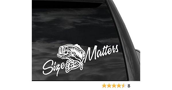 "Bass Fishing Mascot Car Bumper Sticker Decal /""SIZES/'/'"
