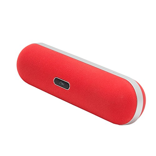 Connectland Wireless Bluetooth 2.1 Pill Shaped Hybrid Speaker with Single Multi-Function Button (Tube Portable Speaker)