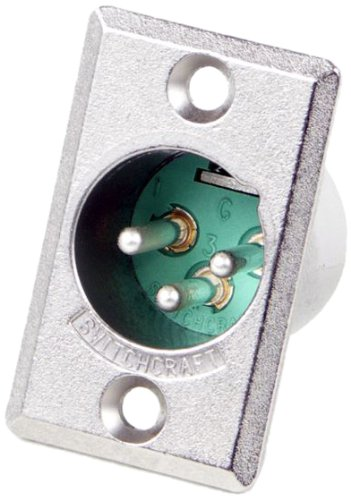 n Male XLR Panel Mount Plug, Nickel Finish ()