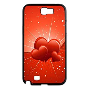 Vety Three Hearts Samsung Galaxy Note 2 Cases, {Black}